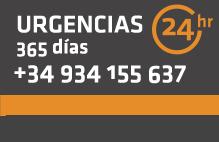 Urgencias 24h 365 días - +34 934 155 637