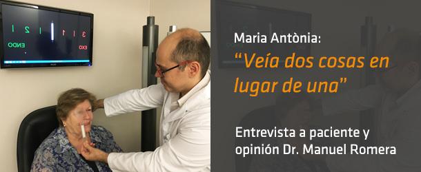 Entrevista a Maria Antònia - Innova Ocular ICO Barcelona