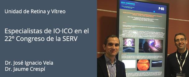Dr. José Ignacio Vela y Dr. Jaume Crespí - Congreso SERV 2018 - IO·ICO Barcelona