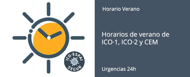 Horarios de verano de ICO·1, ICO·2 y CEM 2020 - IO·ICO Barcelona