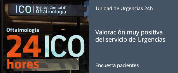 Encuesta - Servicio Urgencias 24h Oftalmología - IO·ICO Barcelona