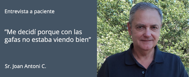 Paciente Catarata - Lentes Monofocales - IO·ICO Barcelona