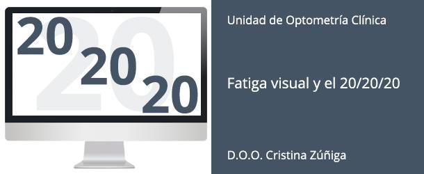 Fatiga visual digital y el 20/20/20 - IO·ICO Barcelona