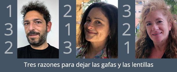 Tres razones para eliminar las gafas - IO·ICO Barcelona