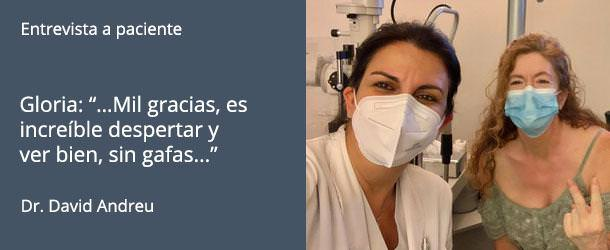 Implantación de lentes intraoculares - Entrevista a paciente - Gloria Mendoza - IO·ICO Barcelona