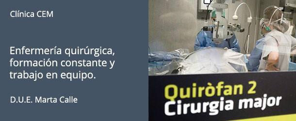 Enfermería quirúrgica - Clínica CEM - IO·ICO Barcelona